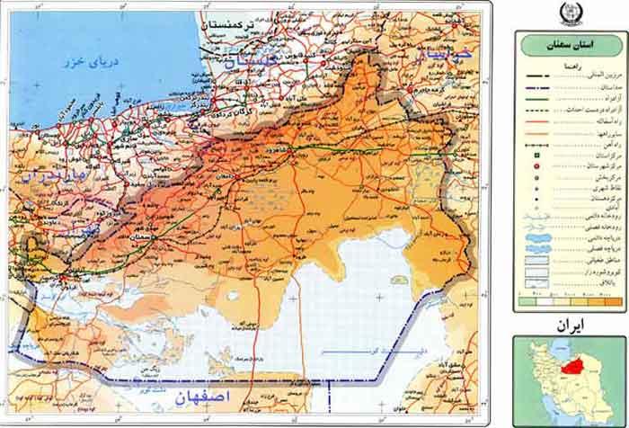 فایل اتوکد شهر سمنان (نقشه پایه)