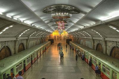 مترو پیونگیانگ کره شمالی
