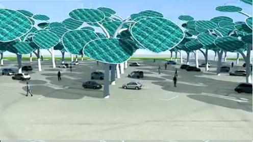 پارکینگ در جنگل خورشیدی