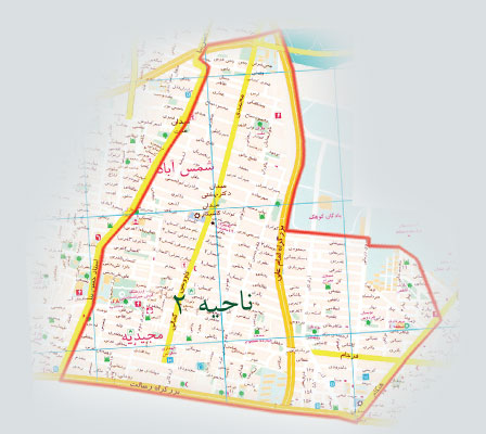 فایل اتوکد منطقه ۴ تهران (شمس آباد)