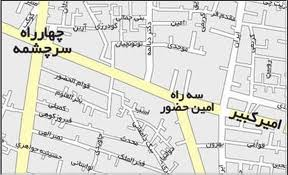 فایل اتوکد منطقه ۱۲ تهران (سه راه امین حضور)