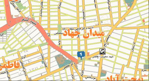 فایل اتوکد منطقه ۶ تهران (میدان جهاد)