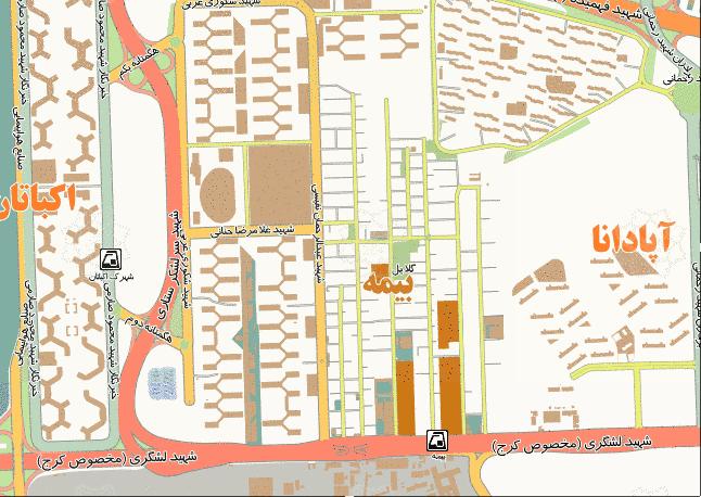 فایل اتوکد منطقه ۵ تهران (شهرک اکباتان)