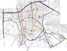 فایل اتوکد شهر قدمگاه (نقشه کامل شهر)