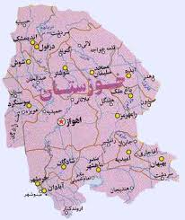 فایل اتوکد شهر خوزستان (نقشه آبادی ها)
