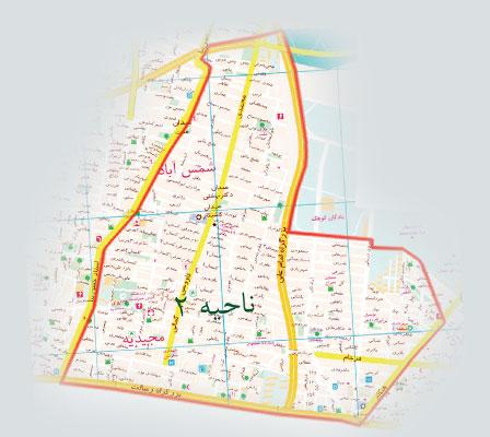 فایل اتوکد منطقه ۴ تهران (کاظم آباد)