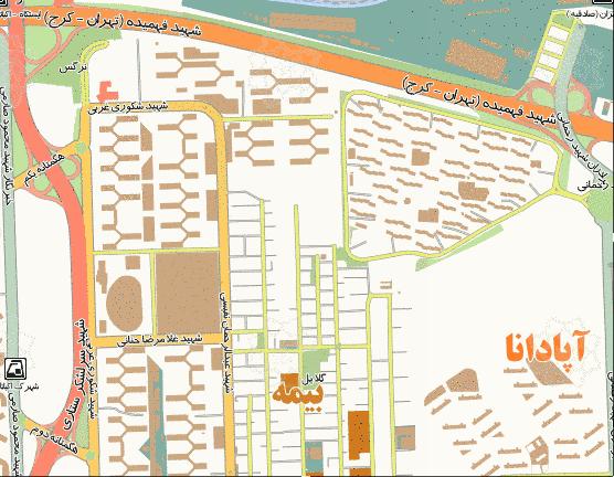 فایل اتوکد منطقه ۵ تهران (شهرک اکباتان و شهرک آپادانا)