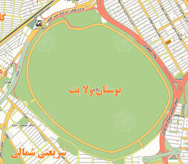 فایل اتوکد منطقه ۱۹ تهران (پارک ولایت)