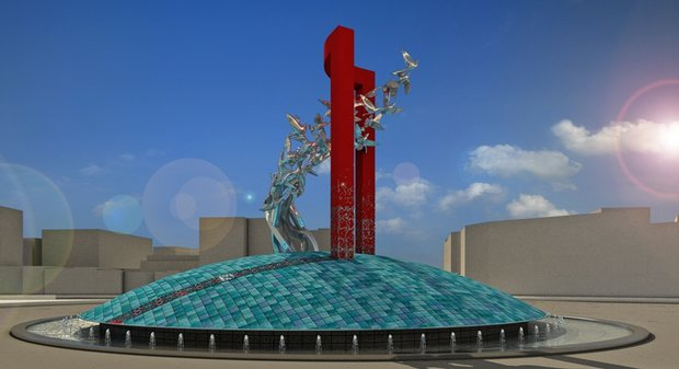 طرح نماد حجمی میدان انقلاب