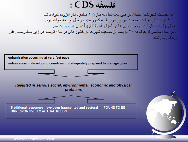 پاورپوینت رویکردهای نوین شهرسازی(CDS)