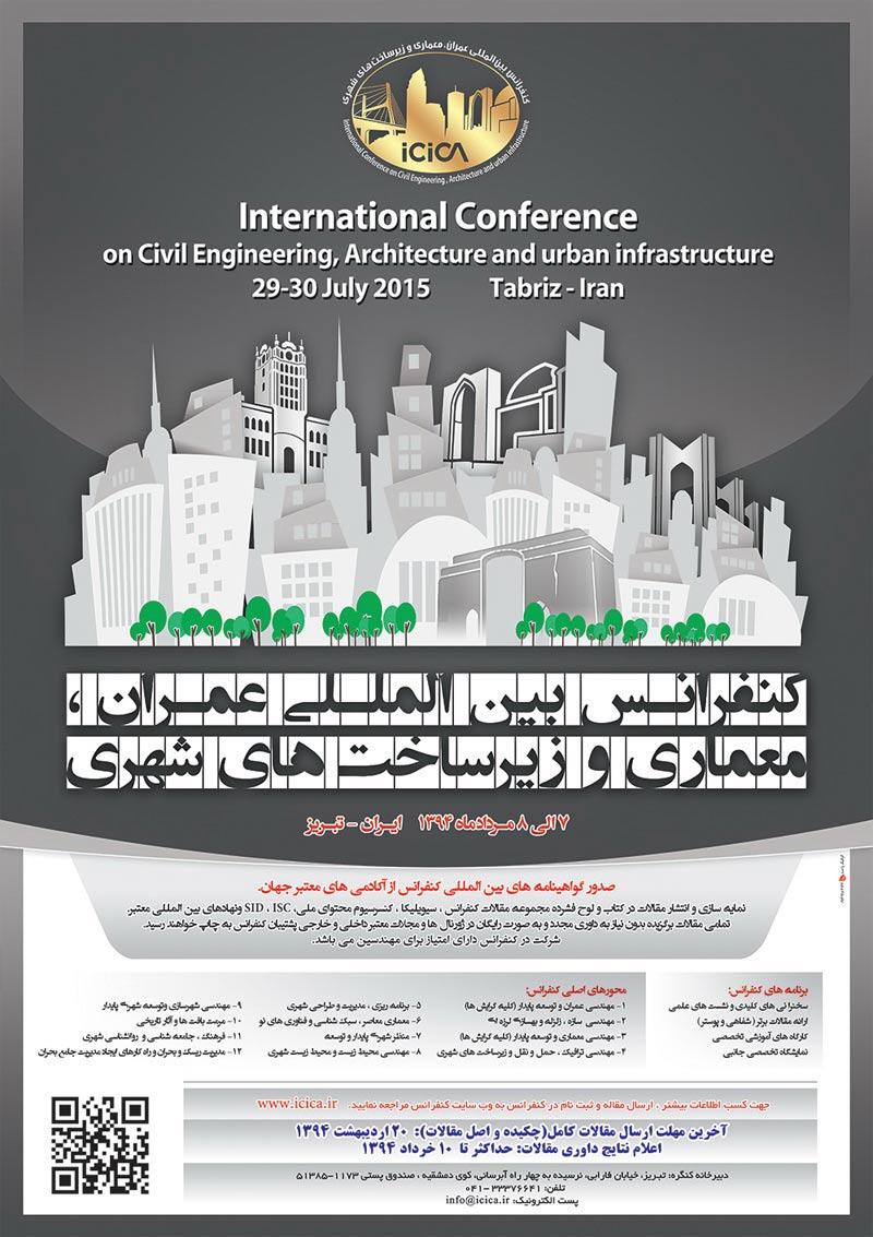 کنفرانس بین المللی عمران ، معماری و زیرساخت های شهری