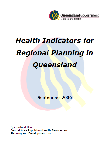 شاخص های بهداشت برای برنامه ریزی منطقه ای در کوئینزلند