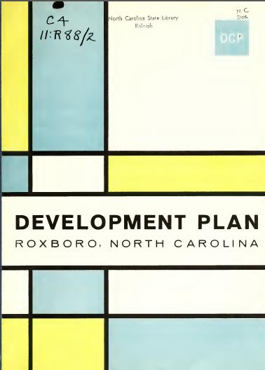 کتاب طرح توسعه روکسبورو، کارولینای شمالی