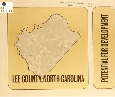کتاب لی شهرستان، کارولینای شمالی، بالقوه برای توسعه