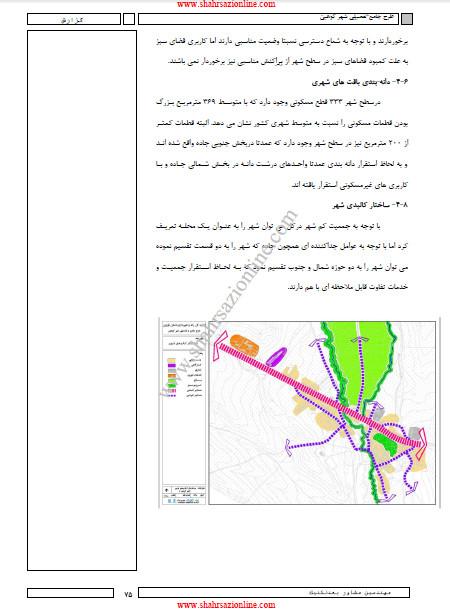 طرح جامع-تفصیلی شهر کوهین