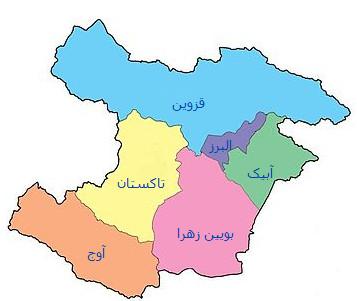 نقشه جی ای اس استان قزوین