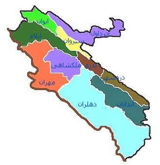 نقشه جی ای اس استان ایلام